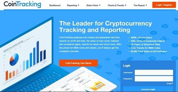 cointracking - tool investasi crypto dan bitcoin