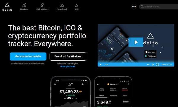 delta - bitcoin ico crypto portfolio tracker