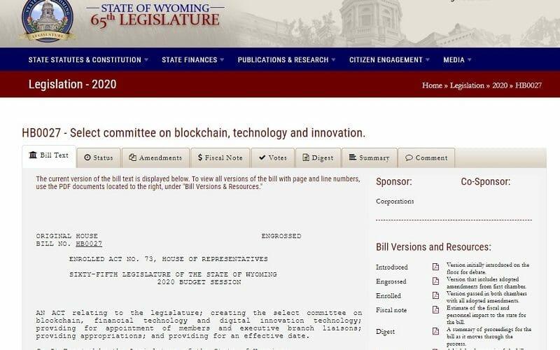 blockchain wyoming