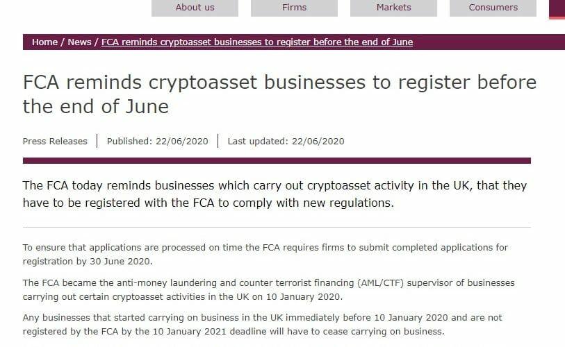 mendaftarkan perusahaan crypto